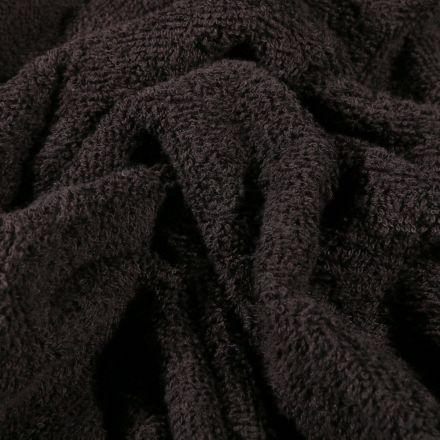 Tissu Eponge Premium 400 g/m² Noir - Par 10 cm