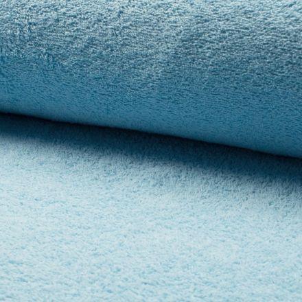 Tissu Eponge légère 320 g/m² Bleu ciel - Par 10 cm