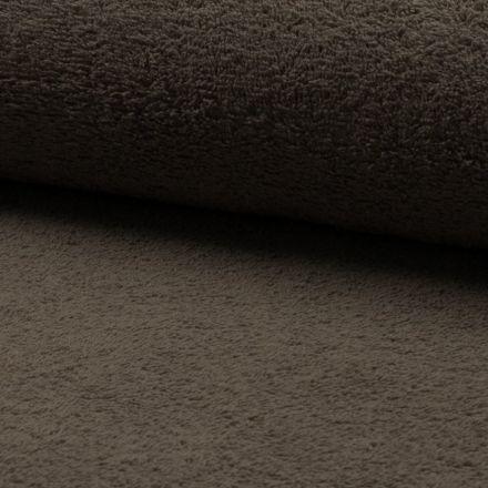 Tissu Eponge légère 320 g/m² Chocolat - Par 10 cm