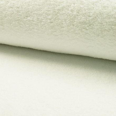 Tissu Eponge légère 320 g/m² Ecru - Par 10 cm