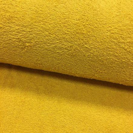 Tissu Eponge légère 320 g/m² Moutarde - Par 10 cm