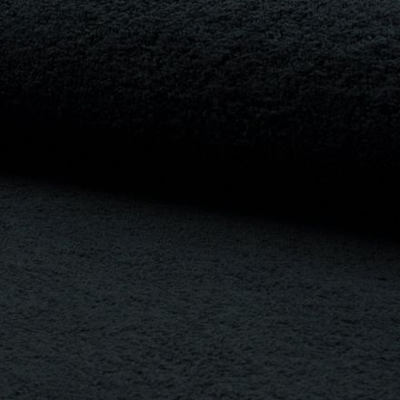 Tissu Eponge légère 320 g/m² Noir - Par 10 cm
