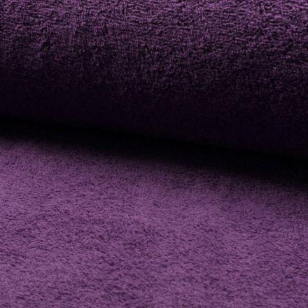 Tissu Eponge légère 320 g/m² Violet - Par 10 cm