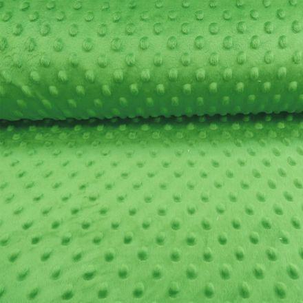 Tissu Minky Ultra doux Pois Vert Gazon - Par 10 cm
