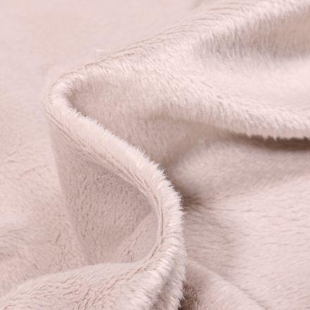 Tissu Minky Ultra doux Ras Taupe x10cm