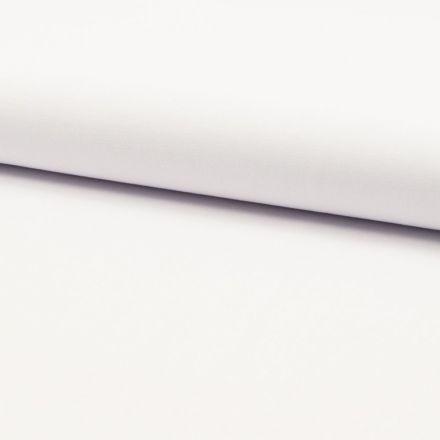 Tissu Popeline de coton unie Blanc - Par 10 cm
