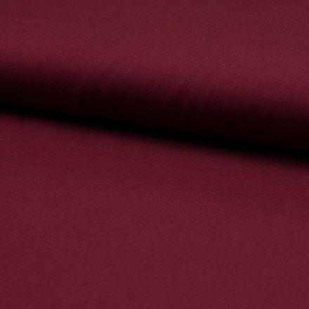 Tissu Popeline de coton unie Bordeaux - Par 10 cm