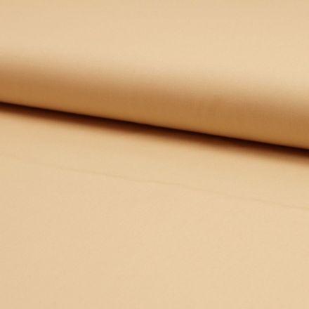 Tissu Popeline de coton unie Marron noisette - Par 10 cm