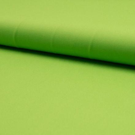 Tissu Popeline de coton unie Vert pomme - Par 10 cm