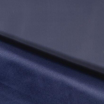 Tissu Toile à sac envers PVC déperlant ultra robuste Bleu marine - Par 10 cm