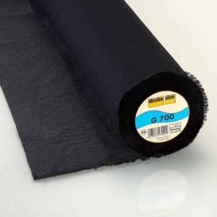 Entoilage Tissé Thermocollant Vlieseline G700 Noir - Par 10 cm