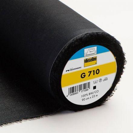 Entoilage Tissé Thermocollant Vlieseline G710 Noir - Par 10 cm