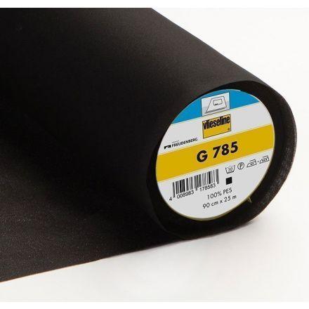 Entoilage Tissé Thermocollant Vlieseline G785 Noir - Par 10 cm