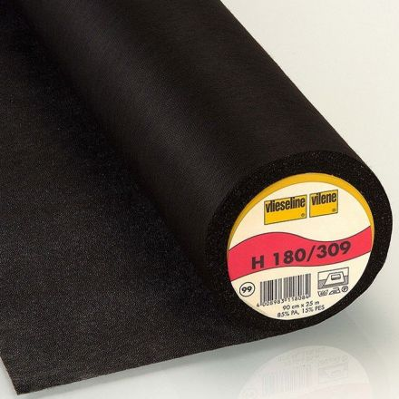 Entoilage Thermocollant Vlieseline H180 Noir - Par 10 cm
