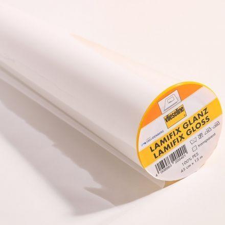 Film transparent Thermocollant Vlieseline Lamifix Brillant - Par 10 cm