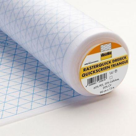 Entoilage Vlieseline Rasterquick imprimé triangles pour patchwork Blanc - Par 10 cm