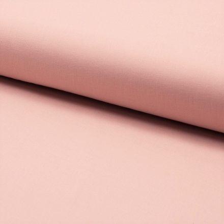 Tissu Voile de coton uni Rose pâle - Par 10 cm