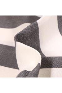 Tissu Toile extérieure Dralon Grande largeur Rayures sur fond Noir