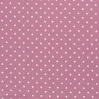 Tissu Jersey Coton Etoiles blanches sur fond Vieux rose - Par 10 cm