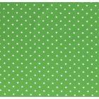 Tissu Jersey Coton Etoiles blanches sur fond Vert - Par 10 cm
