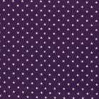 Tissu Jersey Coton Etoiles blanches sur fond Violet - Par 10 cm