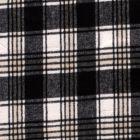 Tissu Lainage Jacquard Carreaux noir sur fond Blanc - Par 10 cm