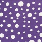 Tissu  Mousseline Pois blanc différentes tailles sur fond Violet - Par 10 cm