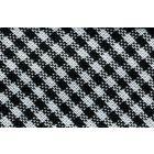 Biais tissé 20 mm Noir Petits carreaux x1m