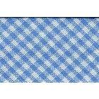 Biais tissé 20 mm Bleu Azur Petits carreaux x1m