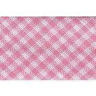 Biais tissé 20 mm Rose clair Petits carreaux x1m