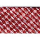 Biais tissé 20 mm Rouge Petits carreaux x1m