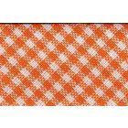 Biais tissé 20 mm Orange Petits carreaux x1m
