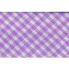 Biais tissé 20 mm Violet Petits carreaux x1m