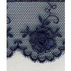 Dentelle Valencienne 35 mm Bleu marine x1m