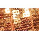 Galon Paillettes 22 mm Orange Paillettes x1m