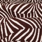 Tissu Gianni Maille Extensible Chocolat Vagues tigrés Blanches - Par 10 cm