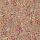 Tissu Coton Frou-Frou Fleuri N°4 Pêche et ecru - Par 10 cm