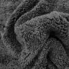 Fausse fourrure mouton Noir - Par 10 cm