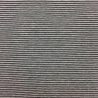 Tissu Jersey Viscose Marinière Rayures fines Noir et blanc - Par 10 cm