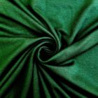 Tissu Jersey Viscose uni Vert sapin x10cm