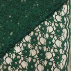 Tissu Dentelle Eva Vert sapin - Par 10 cm