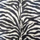 Tissu Velours Peau de bête Zèbre Blanc et noir x10cm