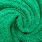 Tissu Doudou uni Vert émeraude x10cm
