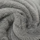 Tissu Doudou uni Gris anthracite x10cm