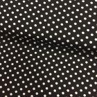 Tissu Coton imprimé Noir Pois 8 mm Blancs - Par 10 cm