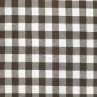 Tissu Vichy Très grands carreaux 17 mm Marron - Par 10 cm