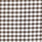 Tissu Vichy Grands carreaux 10 mm Marron - Par 10 cm