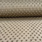 Tissu Minky Ultra doux Pois Bronze - Par 10 cm
