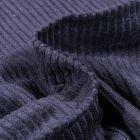 Tissu Velours Grosses côtes Bleu denim