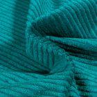Tissu Velours Grosses côtes Bleu pétrole